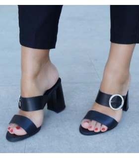 All Black Mules