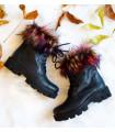 Rainbow Fur Boots