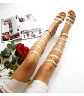 Gold Gladiator Sandals