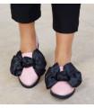 Black &amp Pink  Ballerinas