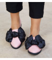Black & Pink  Ballerinas