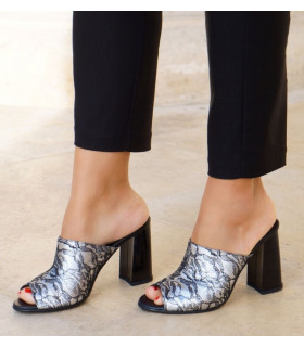 Silver Flowers  Mules