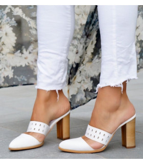 All white Mules