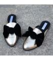 Saboti Black Velvet Bow