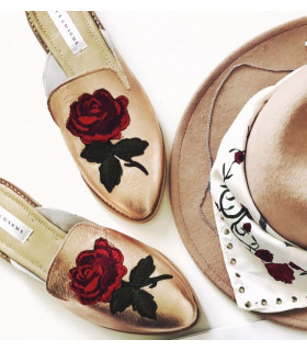 Gold Roses Shoes
