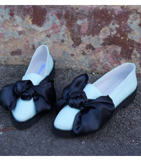 Mint Bow Ballerinas