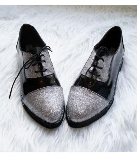 Silver Glitter Spring Shoes