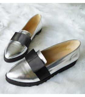 Silver Bow Ballerinas