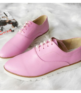 Pink & Pearls Oxford Shoes