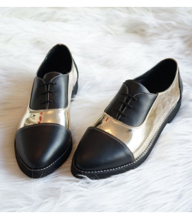 Spring Black &amp Gold Shoes