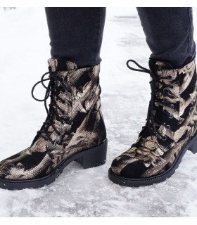 Gold Flowers Boots