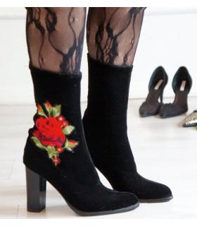 Velvet Roses Ankle Boots