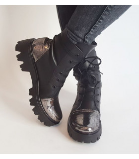 Black &amp Silver Boots