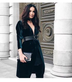 Trendy Velvet Dress