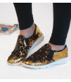 Gold Sequin Sneakers