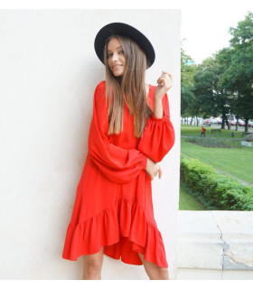Red Waves Dress