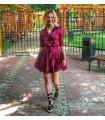 Burgundy Chic Dress
