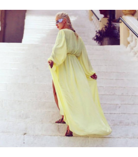 Yellow Beach Caftan
