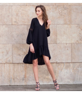 Black Waves Dress