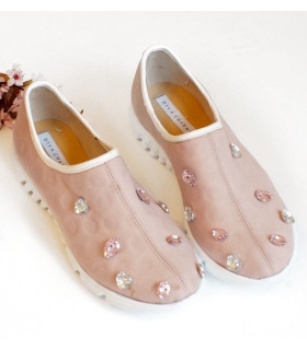 Pink Stones Shoes