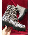 White Leopard Boots