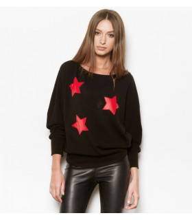 Red Stars Sweater