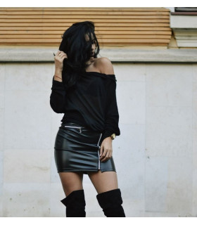 Black Zipper Skirt