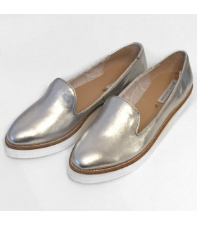 Silver Ballerinas Shoes