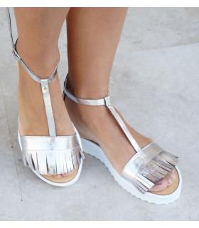 Silver Fringe Sandals