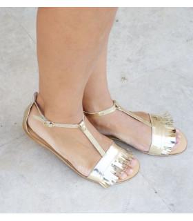 Gold Fringe Sandals
