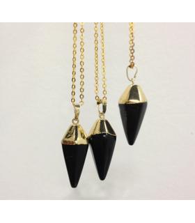 Colier Black Onix Pyramid