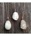 Colier White Crystal