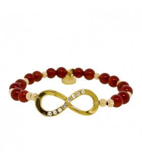 Bratara Deep Red Infinity