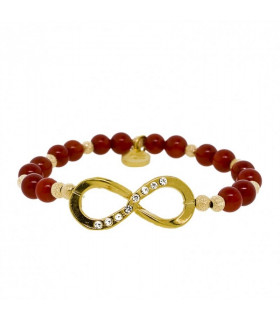 Deep Red Infinity  Bracelet