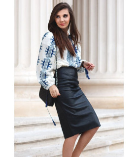 Black Shine Skirt