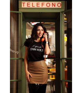 "Tricou ""I speak Fabulous"" black"