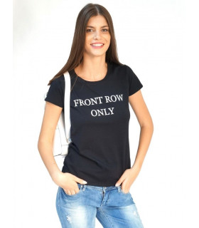 "Tricou ""Front Row"" Black"
