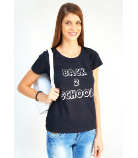 "Tricou ""Back 2 School"" Black"