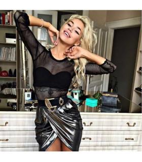 Liquid Silver Skirt