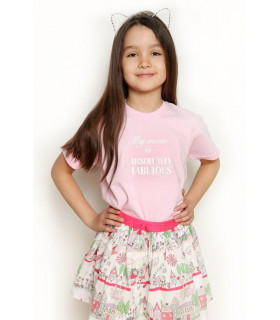 """Tricou """"My Mom is Absolutely Fabulous"""" Kids Pink"""