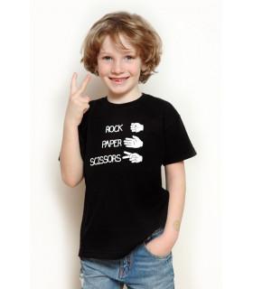 &quot Rock Papers Scissors&quot T-shirt Kids Black