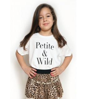 "Tricou ""Petite and Wild"" Kids"