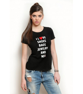 &quot I love &quot T-shirt Black