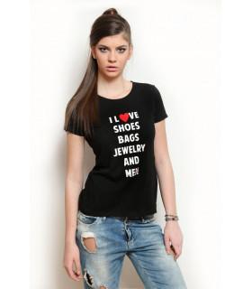 "Tricou "" I love "" Black"
