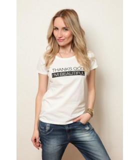 "Tricou "" Thanks God I am beautiful"""