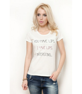 &quotI have lips&quot  T-shirt