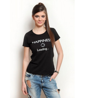 "Tricou ""Happiness Loading"" Black"