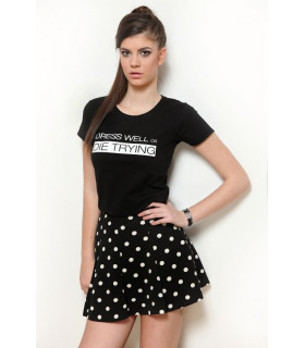 "Tricou ""Dress Well or Die Trying"" Black"
