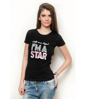 "Tricou "" Call my agent "" Black"