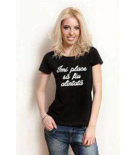 &quot Imi place sa fiu alintata &quot T- shirt Black